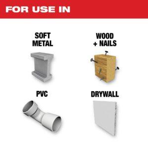 Milwaukee 1-3/4 in. Titanium Bi-Metal Universal Fit Metal Cutting Oscillating Multi-Tool Blade (10-Pack)
