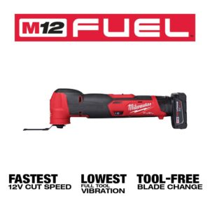 Milwaukee M12 FUEL 12-Volt Lithium-Ion Cordless Oscillating Multi-Tool and Jobsite Radio with two 3.0 Ah Batteries
