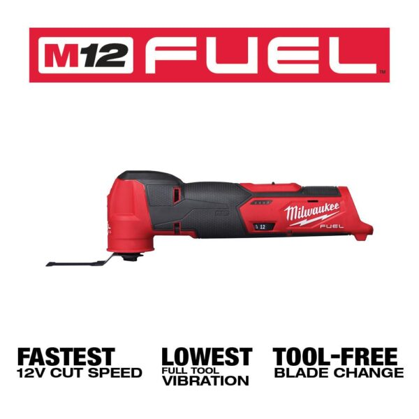 Milwaukee M12 FUEL 12-Volt Lithium-Ion Cordless Oscillating Multi-Tool with M12 2.0Ah Battery