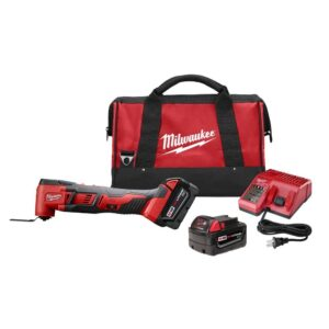 Milwaukee M18 18-Volt Lithium-Ion Cordless Oscillating Multi-Tool Kit w/(2) 3.0Ah Batteries, Accessories, Charger, Bag