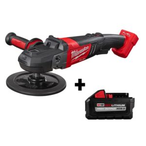 Milwaukee M18 FUEL 18-Volt Lithium-Ion Brushless Cordless 7 in. Variable Speed Polisher W/ HIGH OUTPUT XC 8.0Ah Battery