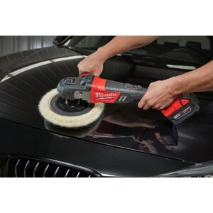 Milwaukee M18 FUEL 18-Volt Lithium-Ion Brushless Cordless 7 in. Polisher Variable Speed Kit W/ Pads & (2) 5.0Ah Batteries