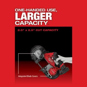 Milwaukee M12 FUEL 12-Volt Lithium-Ion Cordless Sub-Compact Band Saw XC Kit with One 4.0 Ah Battery, Charger and Hard Case
