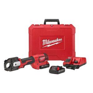 Milwaukee M18 18-Volt Lithium-Ion Cordless FORCE LOGIC 600 MCM Crimper Kit W/(2) 2.0Ah Batteries, Charger, Hard Case