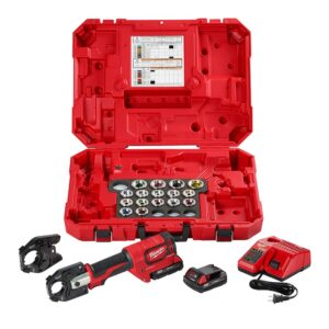 Milwaukee M18 18-Volt Lithium-Ion Cordless FORCE LOGIC 600 MCM Crimper Kit with 750 MCM Expanded Jaw