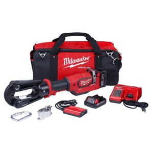 Milwaukee M18 18-Volt 15-Ton Lithium-Ion Cordless FORCE LOGIC Utility Crimper with 2-Batteries, Charger Tool Bag