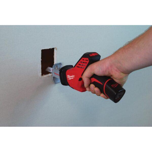 Milwaukee M12 12-Volt Lithium-Ion Cordless PVC Shear Kit W/ M12 HACKZALL Reciprocating Saw