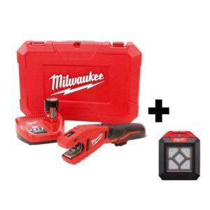 Milwaukee M12 12-Volt Lithium-Ion Cordless Copper Tubing Cutter Kit W/ 1000 Lumens M12 Flood Light