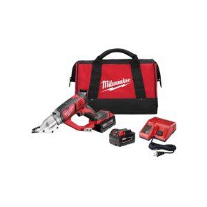 Milwaukee M18 18-Volt Lithium-Ion Cordless 18-Gauge Double Cut Metal Shear Kit W/(2) 3.0Ah Batteries, Charger, Tool Bag