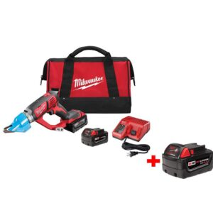 Milwaukee M18 18-Volt Lithium-Ion Cordless 16-Gauge Double Cut Metal Shear Kit with Free M18 18-Volt 4.0 Extended Capacity Battery