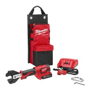 Milwaukee M18 18-Volt Lithium-Ion Cordless Cable Cutter With Steel Jaws with(1) 2.0Ah Battery, Charger, Tool Bag