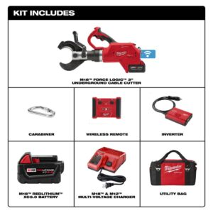 Milwaukee M18 18-Volt Lithium-Ion Cordless FORCE LOGIC 3 in. Underground Cable Cutter w/Wireless Remote Kit W/ (1) 5.0Ah Battery