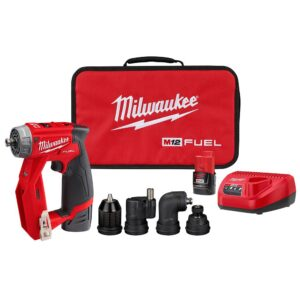 Milwaukee M12 FUEL 12-Volt Lithium-Ion Brushless Cordless 4-in-1 Installation 3/8 in. Drill Driver Kit with M12 Hackzall