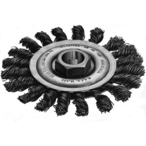 Milwaukee 4 in. Carbon-Steel Full-Cable Twist Wire Wheel