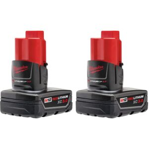 Milwaukee M12 12-Volt Lithium-Ion XC Extended Capacity 3.0 Ah Battery Pack (2-Pack)