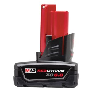 Milwaukee M12 12-Volt Lithium-Ion XC Extended Capacity Battery Pack 6.0Ah (6-Pack)