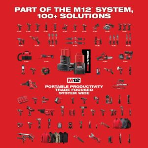Milwaukee M12 FUEL 12-Volt Lithium-Ion Brushless Cordless HACKZALL Reciprocating Saw Kit W/ Free M12 3/8 in. Ratchet