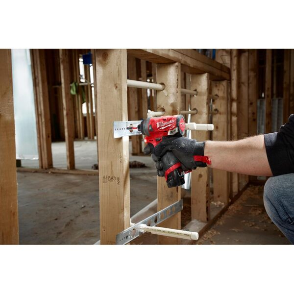 Milwaukee M12 FUEL 12-Volt Lithium-Ion Brushless Cordless Hammer Drill and Impact Driver Combo Kit (2-Tool) W/ Impact Wrench