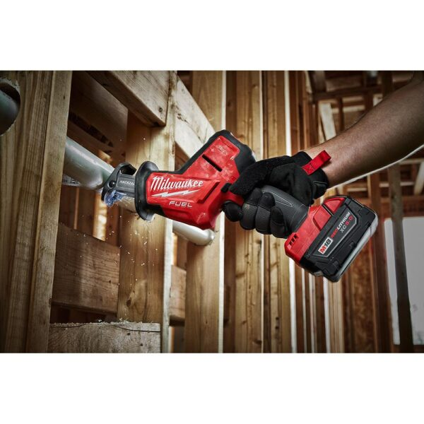 Milwaukee M18 FUEL 18-Volt Lithium-Ion Brushless Cordless HACKZALL Reciprocating Saw & M18 Caulk Gun with Two M18 6.0Ah Batteries