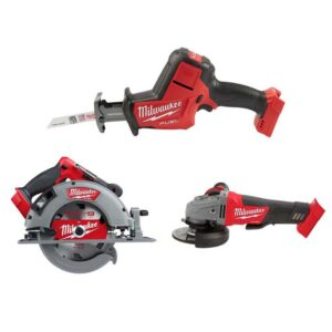 Milwaukee M18 FUEL 18-Volt Lithium-Ion Brushless Cordless HACKZALL Reciprocating Saw/Circular Saw/Grinder Combo Kit (3-Tool)