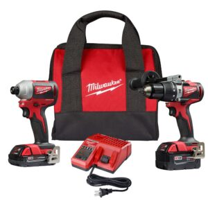 Milwaukee M18 18-Volt Lithium-Ion Brushless Cordless Hammer Drill/Impact/Reciprocating Saw Combo Kit (3-Tool) with 4-Batteries