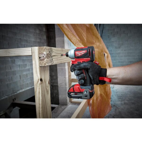 Milwaukee M18 18-Volt Lithium-Ion Brushless Cordless Hammer Drill/Impact/Band Saw Combo Kit (3-Tool) with 4-Batteries