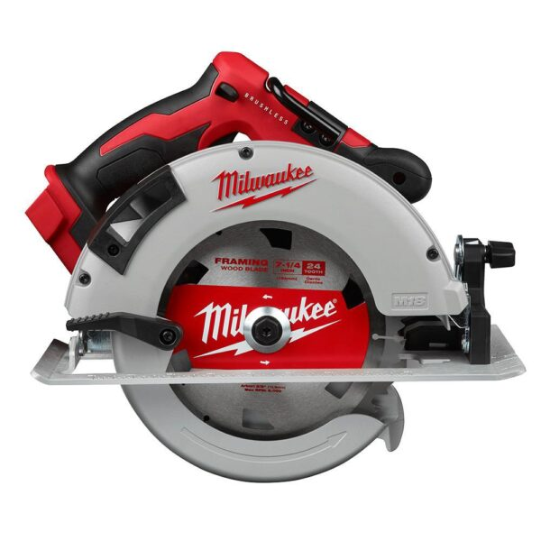 Milwaukee M18 FUEL 18-Volt Lithium-Ion Brushless Hammer Drill/Circular Saw/ Impact Driver Kit with Two 5.0 & Two 6.0 Batteries