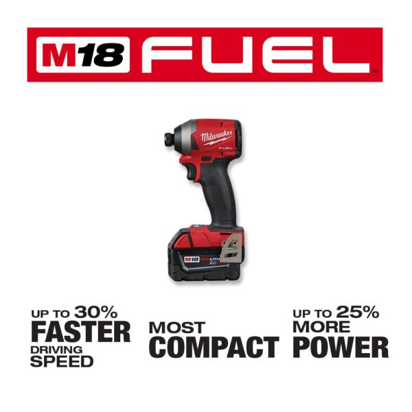 Milwaukee M18 FUEL 18-Volt Lithium-Ion Brushless Cordless Hammer Drill and Impact Driver Combo Kit (2-Tool) w/ 18G Brad Nailer