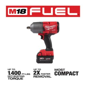 Milwaukee M18 FUEL 18-Volt Lithium-Ion Brushless Cordless Hammer Drill and Impact Driver Combo Kit (2-Tool) with Impact Wrench