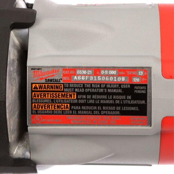 Milwaukee 13 Amp 1-1/4 in. Stroke Orbital Super Sawzall Reciprocating Saw with Hard Case