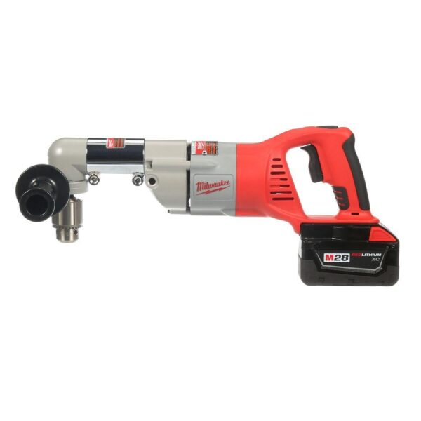 Milwaukee M28 28-Volt Lithium-Ion Cordless 1/2 in. Right Angle Drill w/(1) 3.0Ah Batteries & Charger