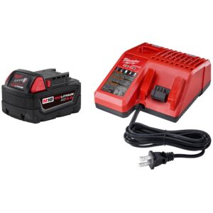 Milwaukee M18 18-Volt Lithium-Ion Cordless 1/4 in. Hex 2-Speed Right Angle Impact Driver W/ (1) 5.0Ah Battery and Charger
