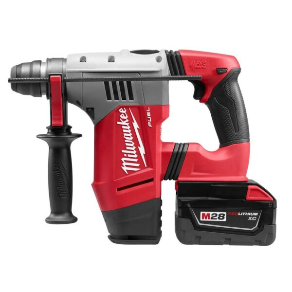 Milwaukee M28 FUEL 28-Volt Lithium-Ion Brushless Cordless 1-1/8 in. SDS Plus Rotary Hammer Kit w/(2) 3.0Ah Batteries