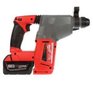 Milwaukee M18 FUEL 18-Volt Lithium-Ion Brushless Cordless 1 in. SDS-Plus Rotary Hammer Kit with Two 5.0Ah Batteries, Hard Case