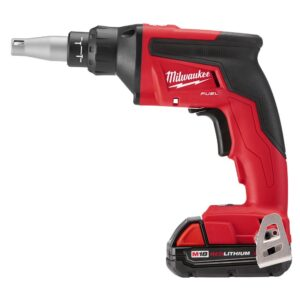 Milwaukee M18 FUEL 18-Volt Lithium-Ion Brushless Cordless Drywall Screw Gun Compact Kit with Collated Screw Gun Attachment