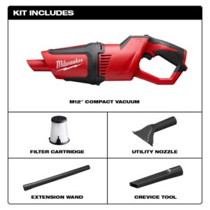 Milwaukee M12 12-Volt Lithium-Ion Cordless Compact Vacuum (Tool-Only)