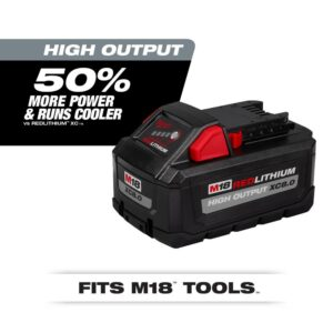 Milwaukee M18 18-Volt Lithium-Ion Cordless Rocket Dual Power Tower Light with HIGH OUTPUT XC 8.0 Ah Battery