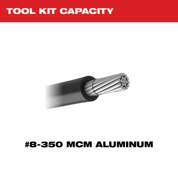 Milwaukee M18 18-Volt Lithium-Ion Cordless FORCE LOGIC 600 MCM Crimper Kit with #8 350 MCM Al Dies 350 MCM Al