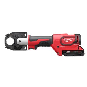 Milwaukee M18 18-Volt Lithium-Ion Cordless FORCE LOGIC 600 MCM Crimper Kit with 750 MCM Cu/1000 MCM Al Cable Cutting Jaw