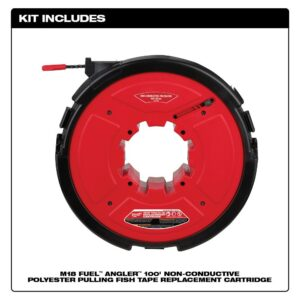 Milwaukee M18 FUEL Angler 100 ft. Non-Conductive Polyester Pulling Fish Tape Drum