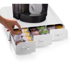 Mind Reader Anchor 36-Capacity White K-Cup Storage Drawer