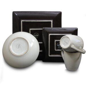 GIBSON elite Bloomington 16-Piece Casual Miscellaneous Stoneware Dinnerware Set (Service for 4)
