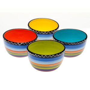 Certified International Tequila Sunrise Multi-Colored Ice Cream and Cereal Bowl (Set of 4)