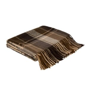 Glitzhome 50 in. H Woven Plaid Throw Blanket