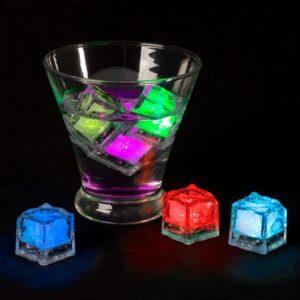 Lavish Home Ice Cube Shaped LED Lights (12-Per Pack)