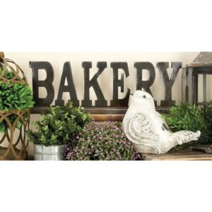 """LITTON LANE 23 in. x 8 in. Kitchen Whimsy """"BAKERY"""" Table Wood Sign"""