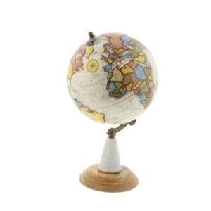 LITTON LANE 14 in. x 8 in. New Traditional Decorative Globe in Multi Colors