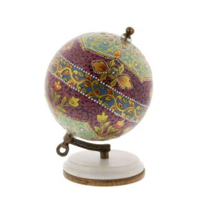 LITTON LANE 7 in. x 5 in. Modern Decorative Globe in Magenta