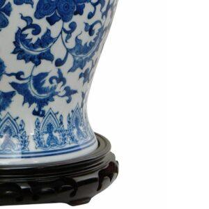 Oriental Furniture Oriental Furniture 18 in. Porcelain Decorative Vase in Blue