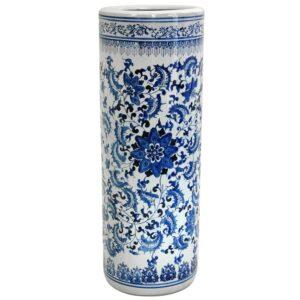 Oriental Furniture Oriental Furniture 23.5 in. Porcelain Decorative Vase in Blue